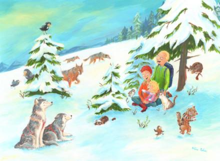 famille des neiges