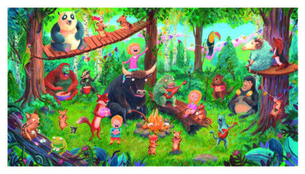 Fête et jeux en Forêt